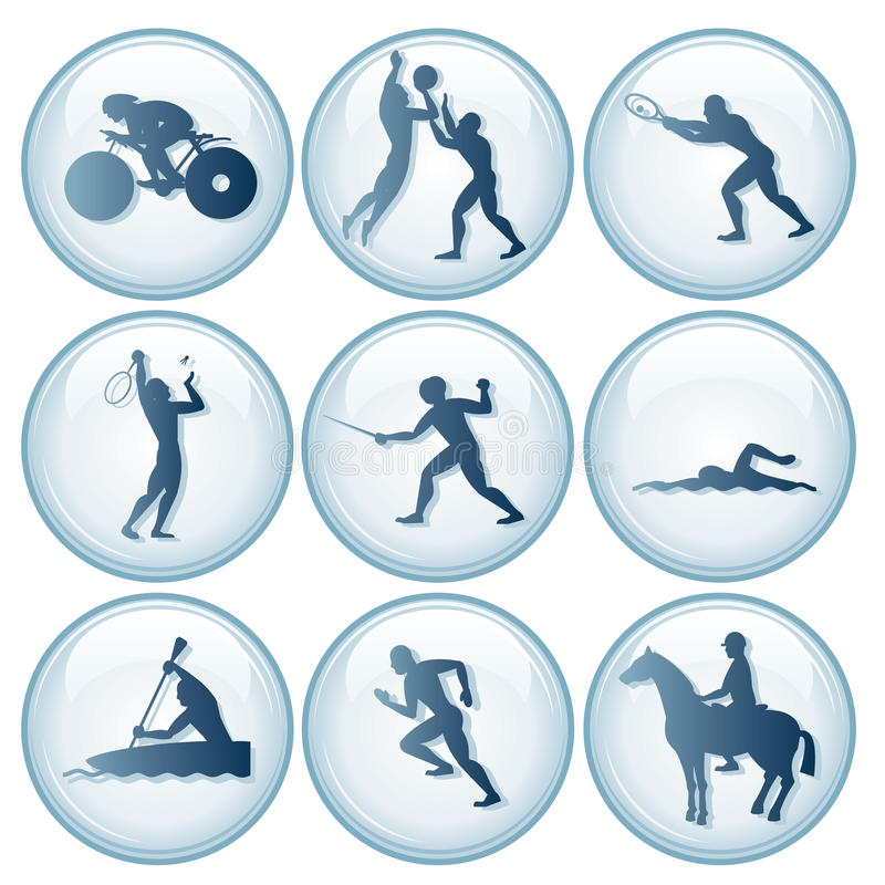 Olympic Sport Icons Set 3 Royalty Free Stock Photography