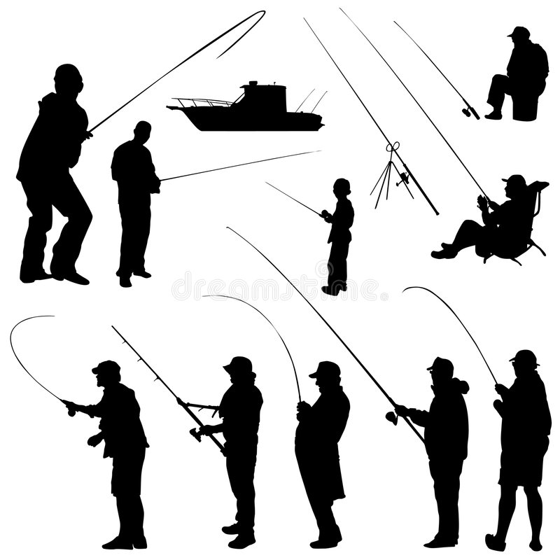 Olympic Sport Silhouettes Stock Images