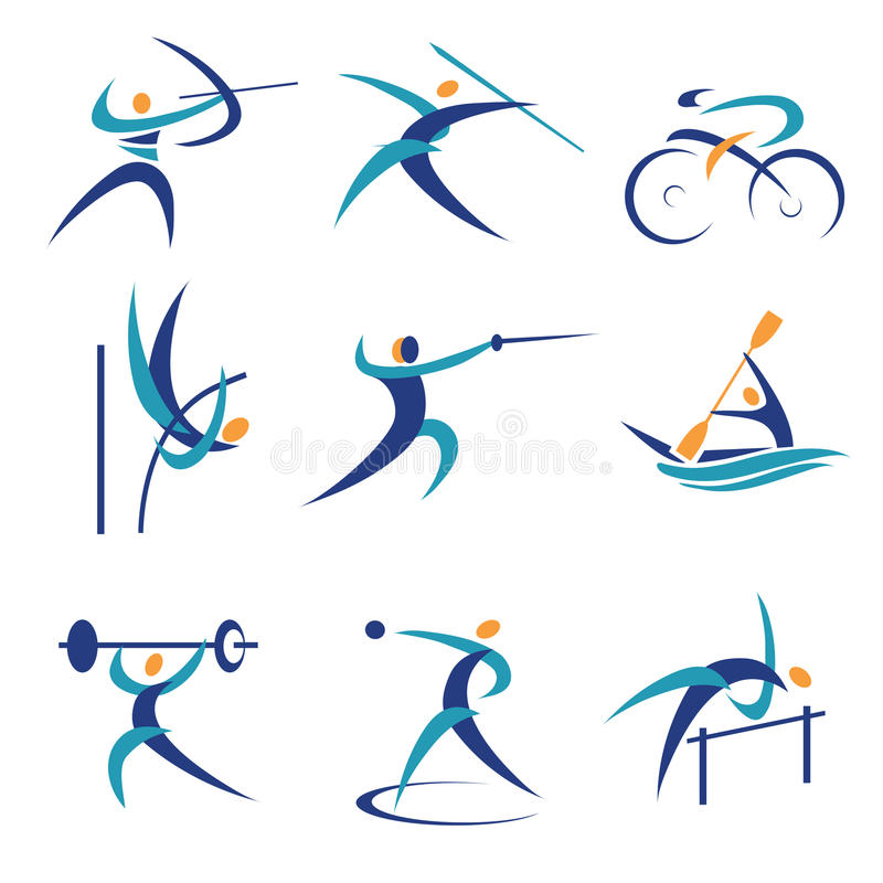 Olympic sports icons vector illustration