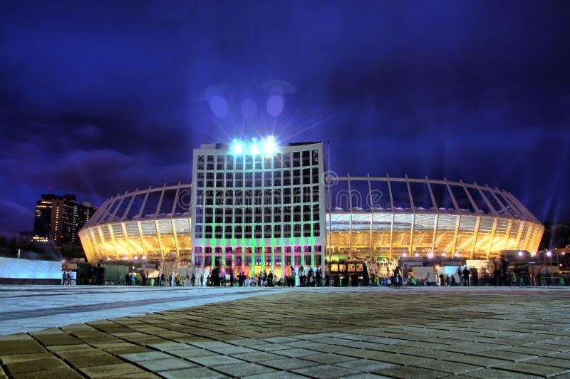 olympic stadion ukraine för kyiv arkivbild