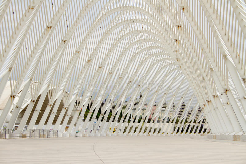 Olympic Stadium I Athens, Grekland Redaktionell Arkivfoto