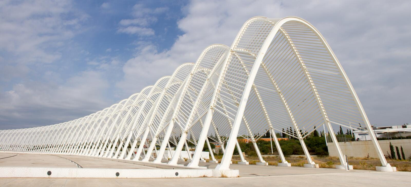Olympic Stadium I Athens, Grekland Redaktionell Bild