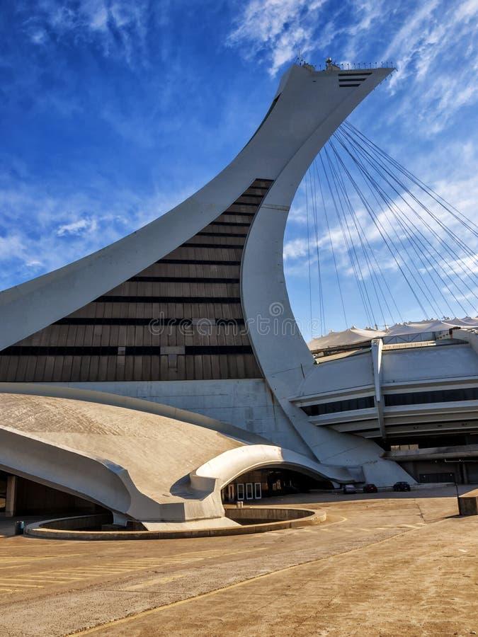 Olympic Stadium (Montreal). Is a multi-purpose stadium in the Hochelaga-Maisonneuve district of Montreal stock image