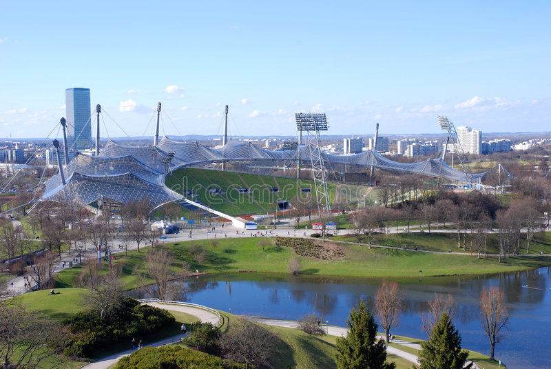 Olympic Stadium, Munich stock photo