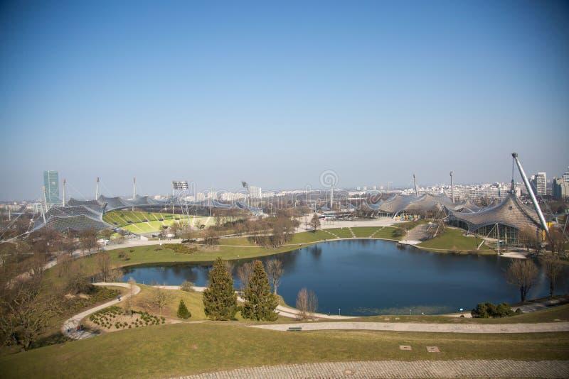Olympic stadium in munich, bavaria royalty free stock image
