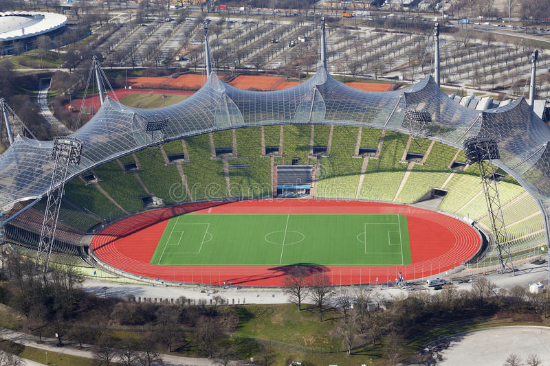 The olympic stadium in munich. In Germany stock image