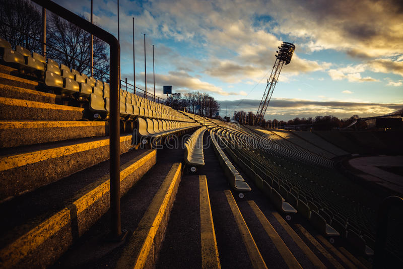 Olympic Stadium in Munich at the Olympia park royalty free stock photo