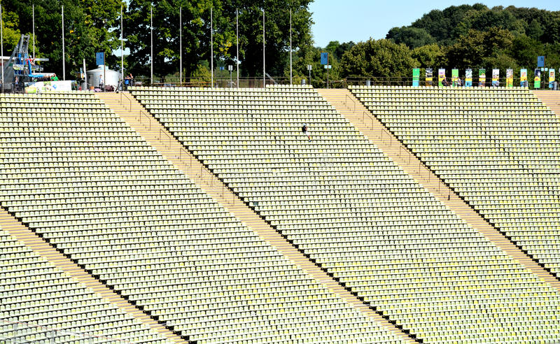 Olympic Stadium Munich, Tyskland - 31 Juli 2015 royaltyfri foto