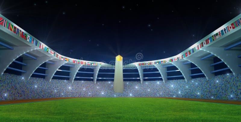 Olympic Stadium night time stock illustration