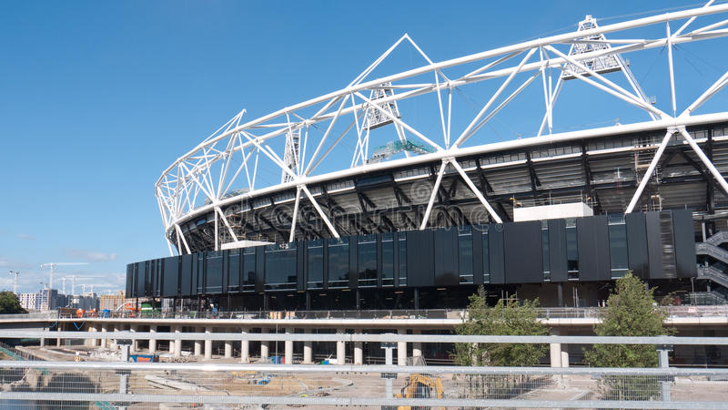 Olympic Stadium under construction, London. royalty free stock image