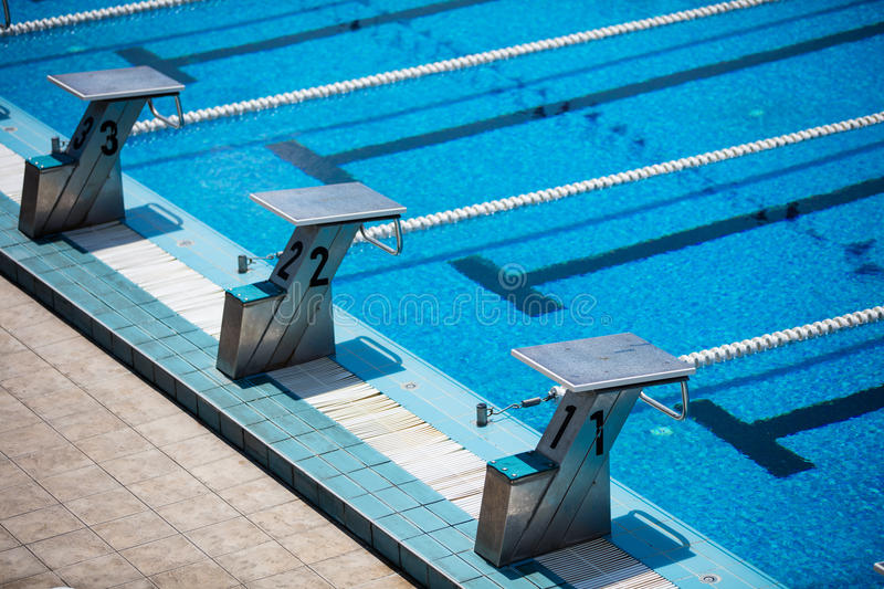 Olympic swimming pool royalty free stock images