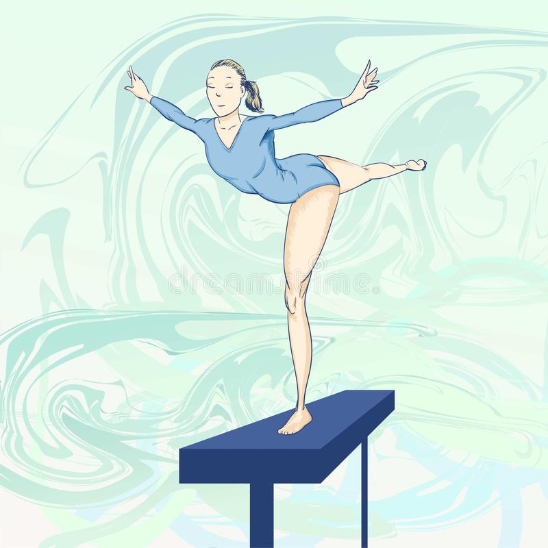 Olympic toons - Gymnastics stock images