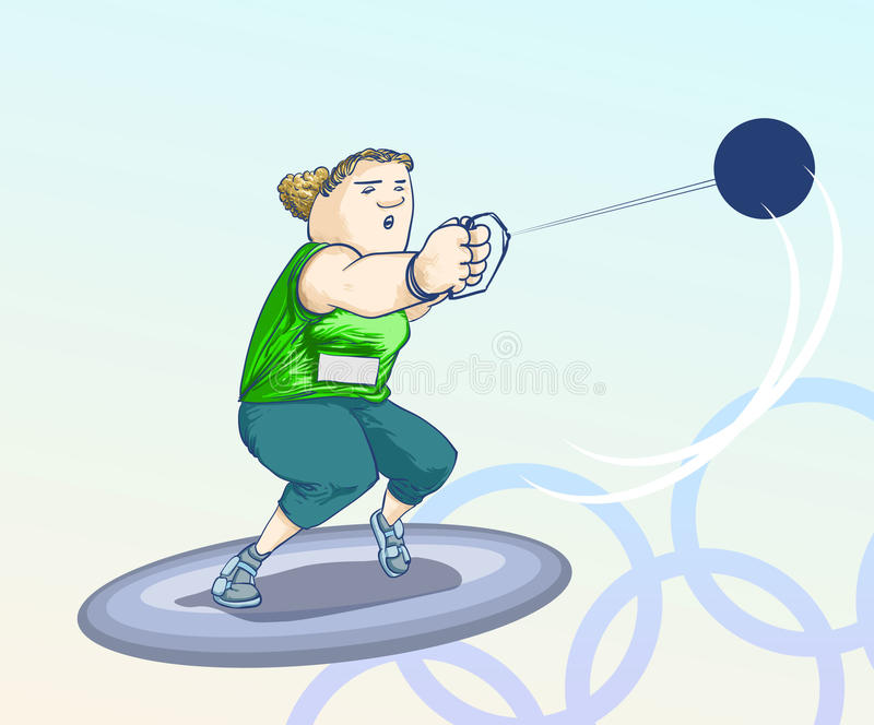 Olympic toons - Sphere royalty free stock photos