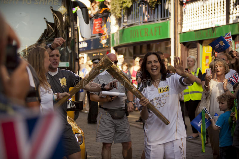 Download Olympic Torch 2012 editorial image. Image of transfer - 25041165