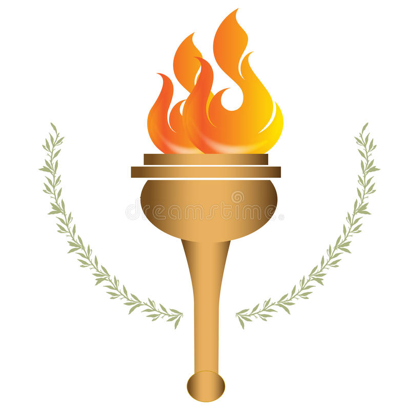 Download Olympic torch stock illustration. Illustration of classic - 32508804