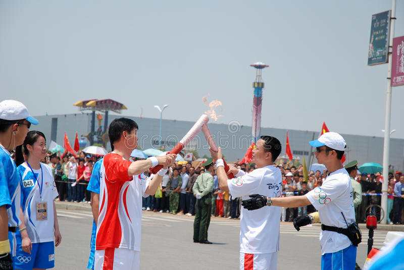Download Olympic Torch Relay editorial stock image. Image of young - 18518889