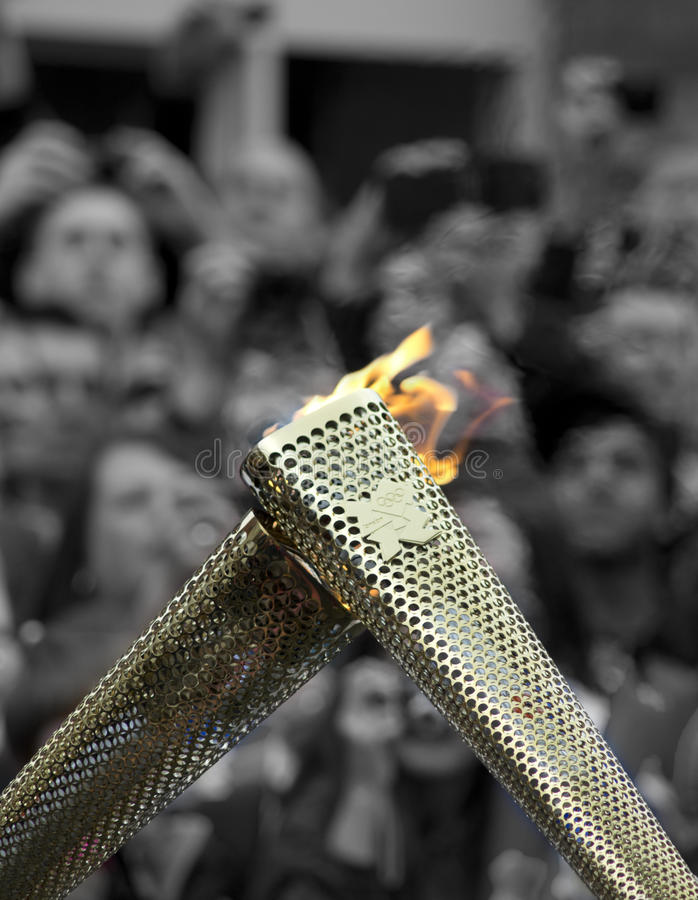 Download Olympic Torch Relay editorial stock image. Image of gold - 25755209