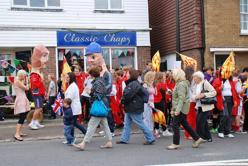 Download Olympic Torch Relay, Rye Editorial Photo - Image: 25978861