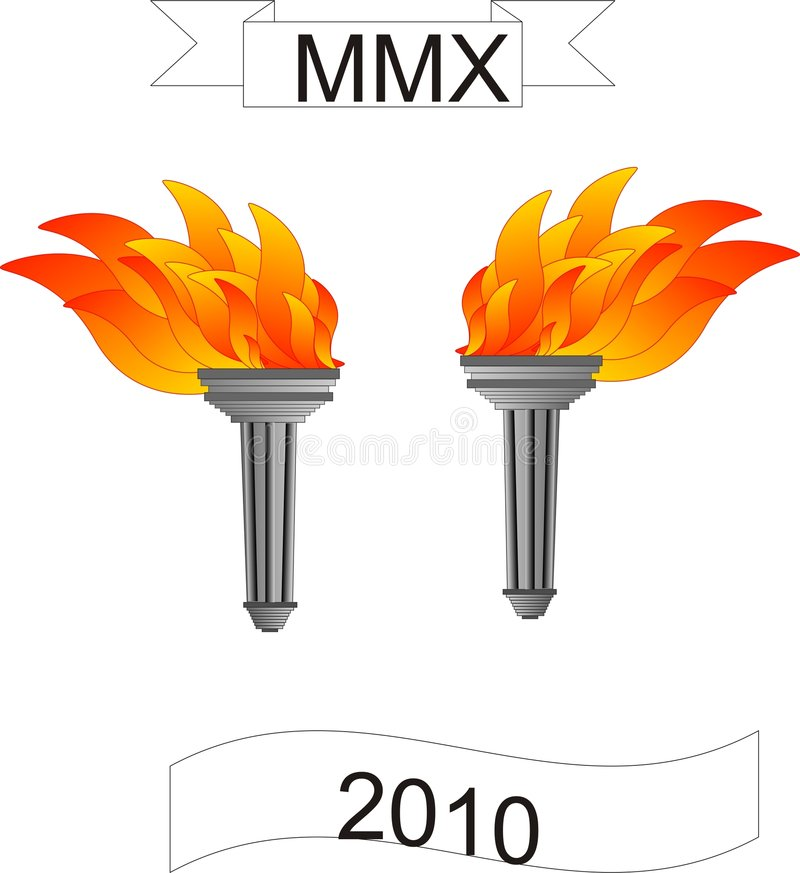 Download Olympic torches stock vector. Image of hope, carry, challenges - 7591333