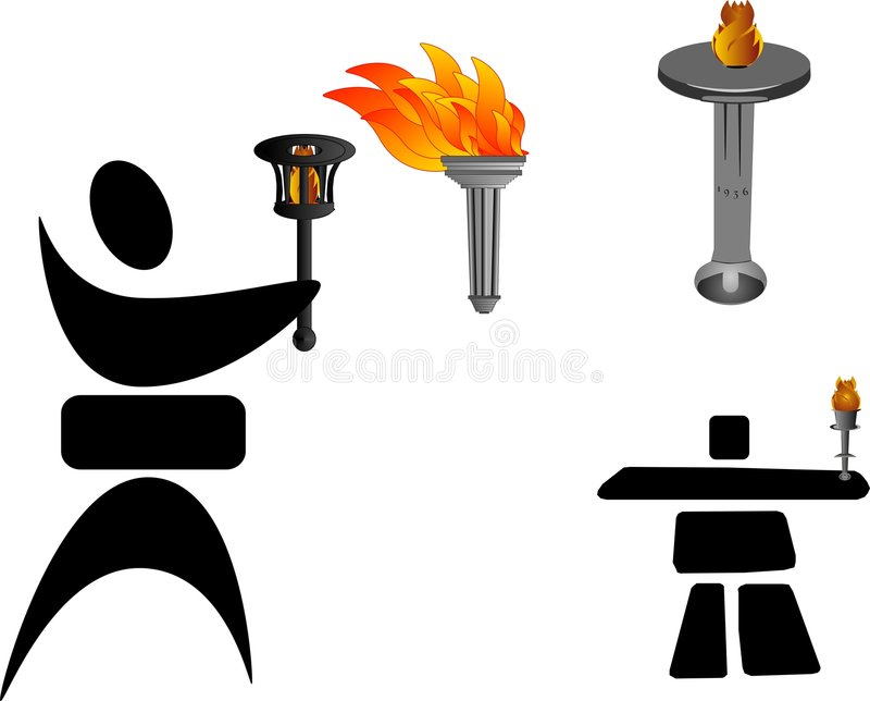 Download Olympic Torches Royalty Free Stock Photography - Image: 8113117