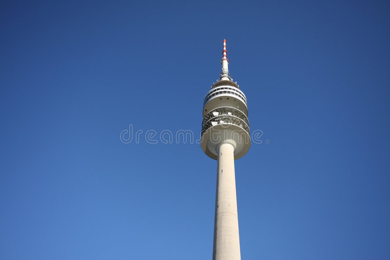 Olympic tower in munich stock photos