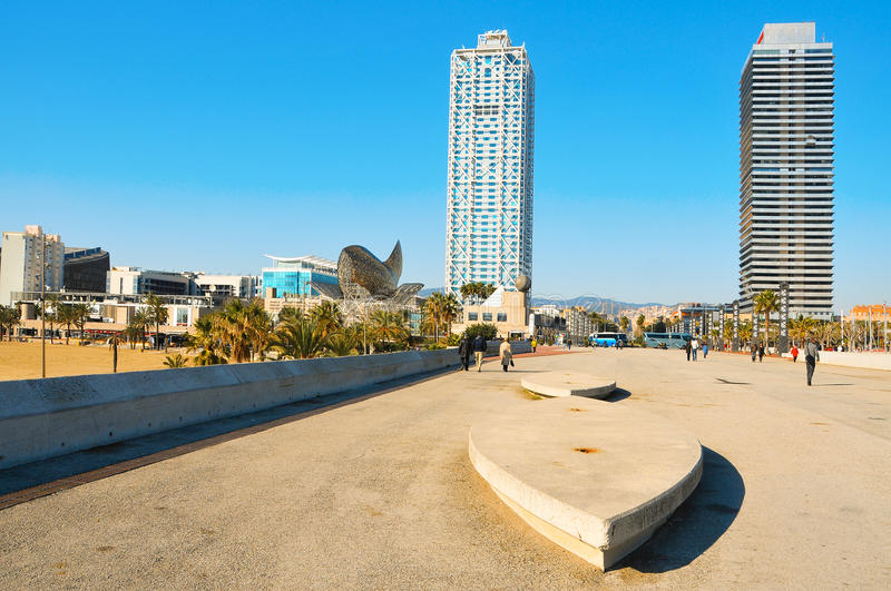 Download Olympic Village In Barcelona, Spain Stock Image - Image: 18244835