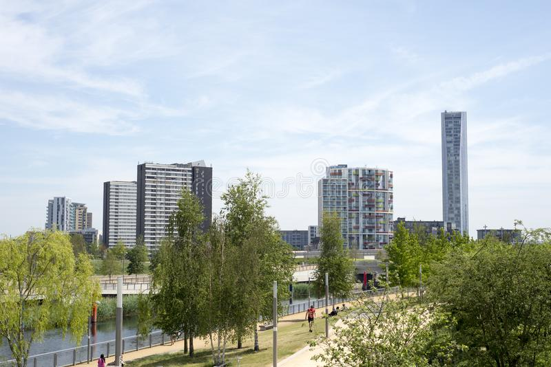 The olympic village in london royalty free stock photography