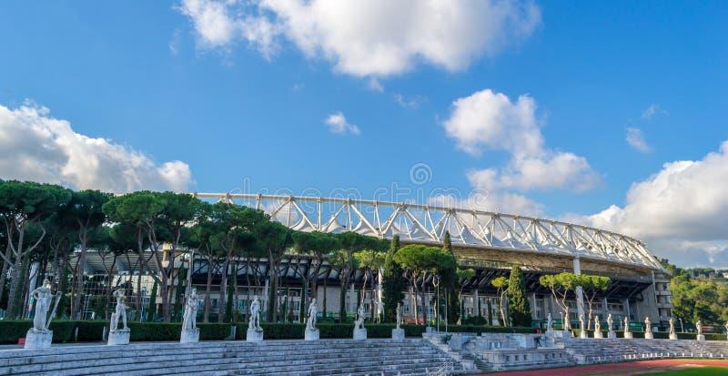 Olympico体育场,罗马,意大利 免版税库存照片