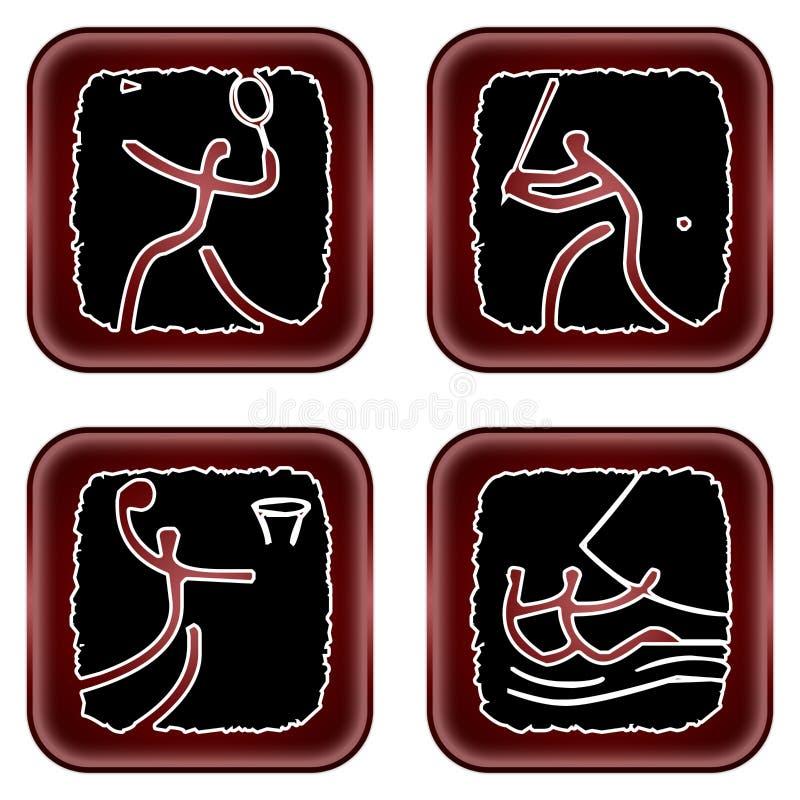 Olympicons vector illustration