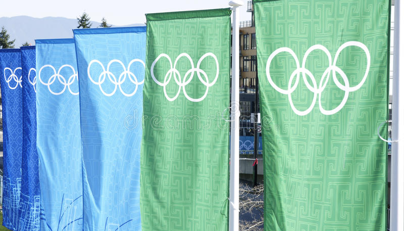 Olympics Banners Vancouver stock photos