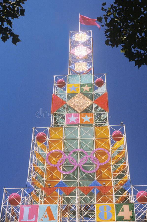 Olympics Building, Exposition Park, Los Angeles, California royalty free stock photography