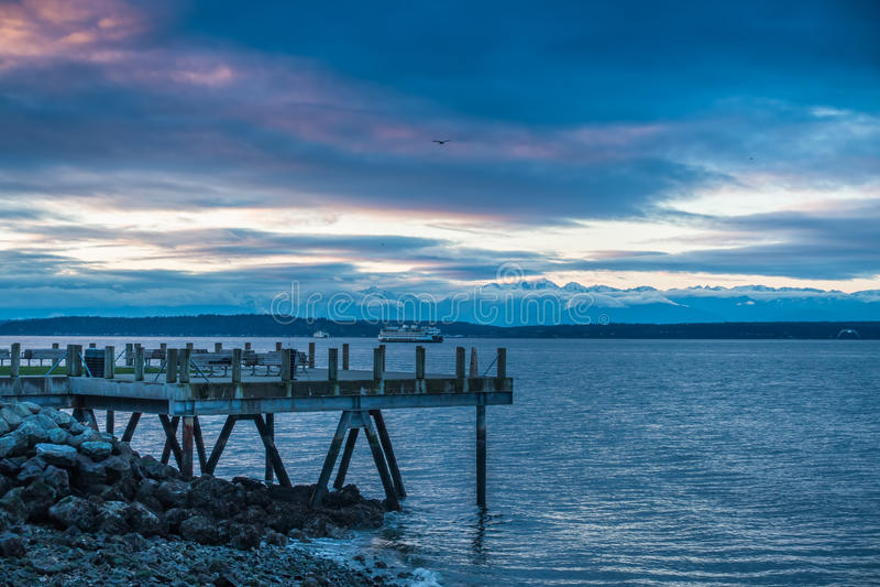 Olympics en Puget Sound 2 stock foto's