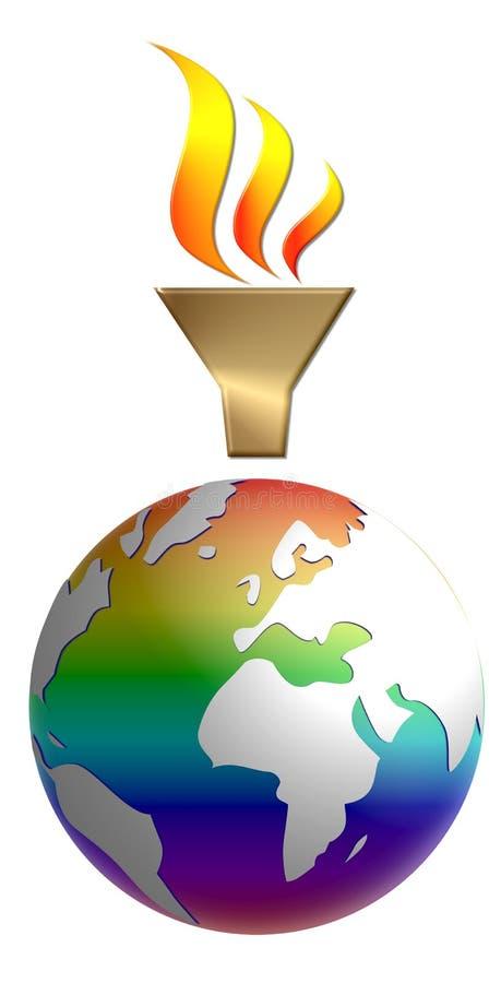 Olympics mundiais gráficos ilustração stock
