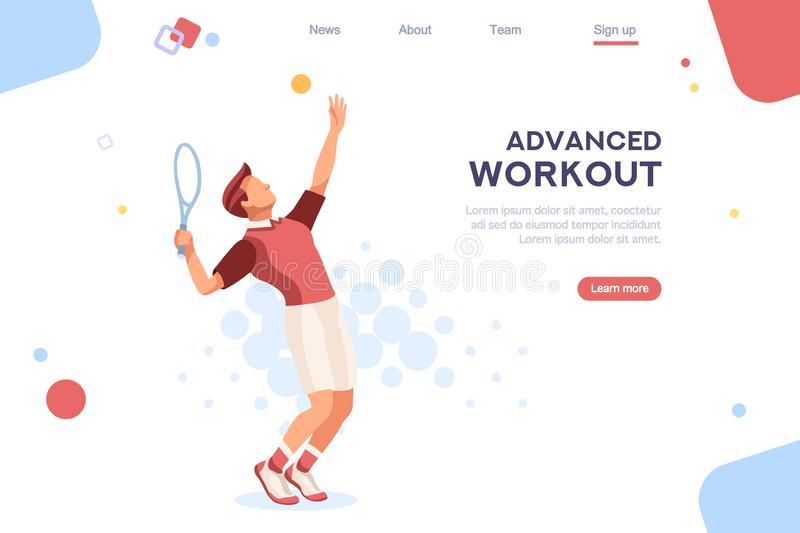 Olympics Set Sportsman Playing Tennis stock illustration