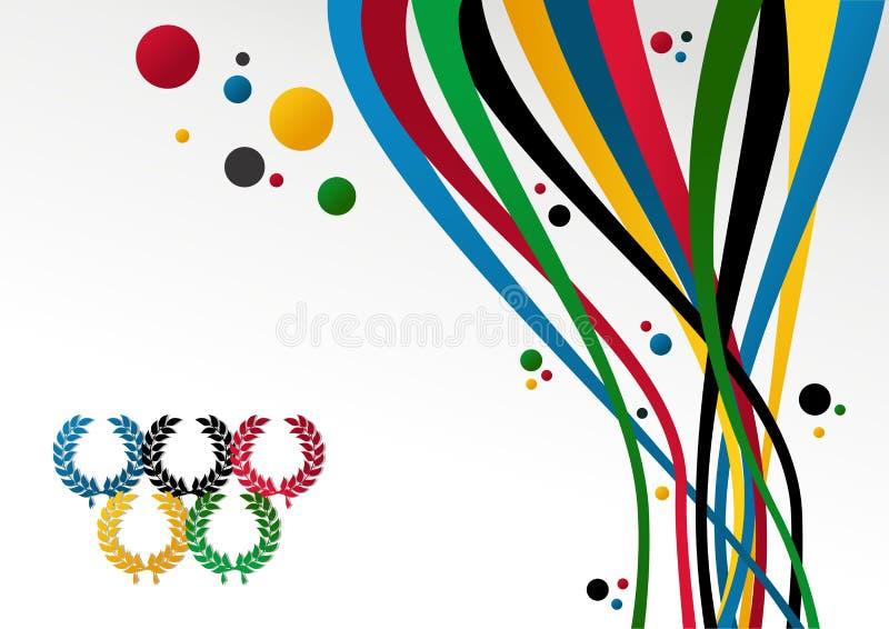 Olympics van Londen de achtergrond van Spelen 2012 royalty-vrije illustratie