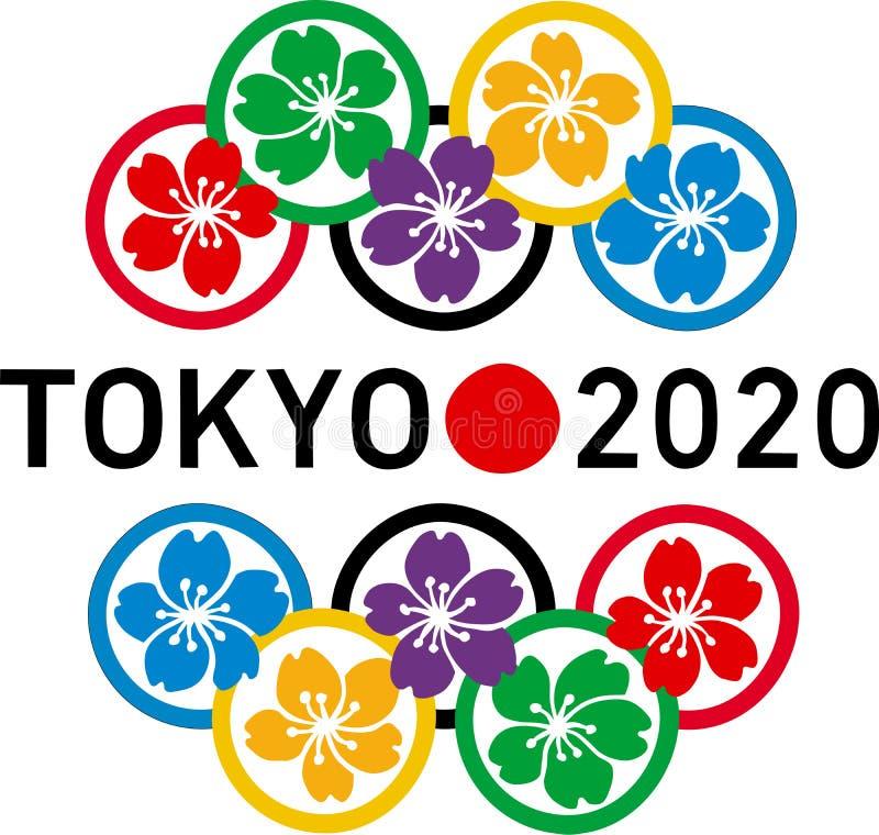 Olympics 2020 van Tokyo embleem stock illustratie