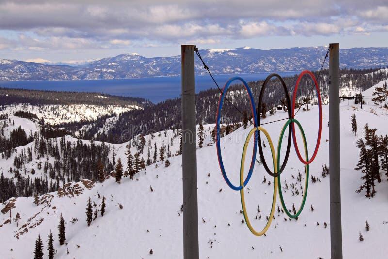Olympics vijftigste verjaardag stock foto