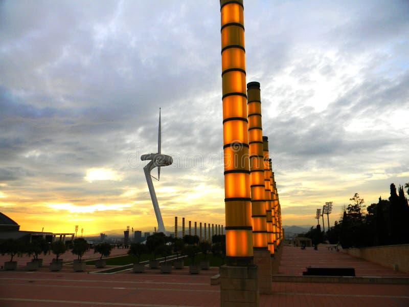Olympisch park Barcelona stock foto's