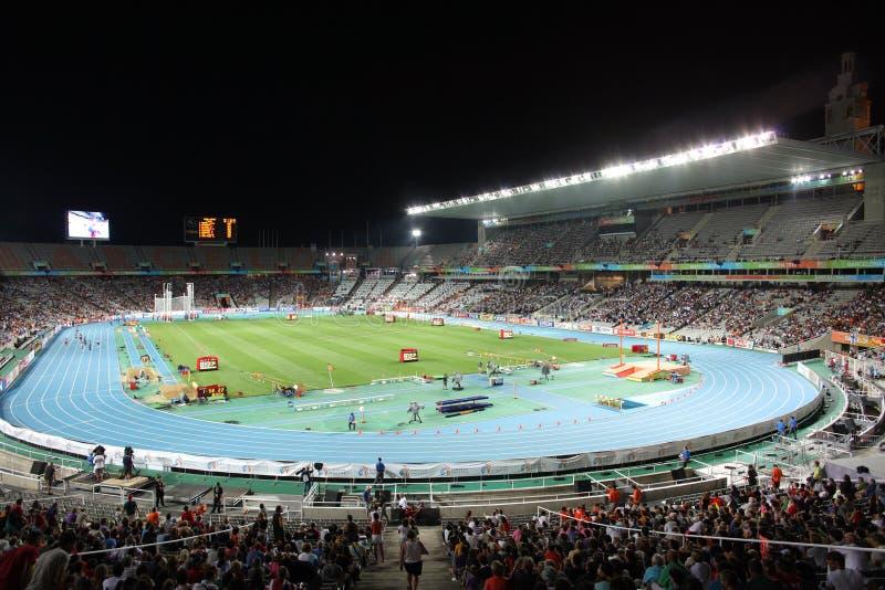 Olympisch Stadion van Barcelona stock afbeelding