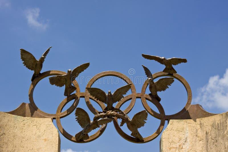Olympisch symbool royalty-vrije stock afbeeldingen