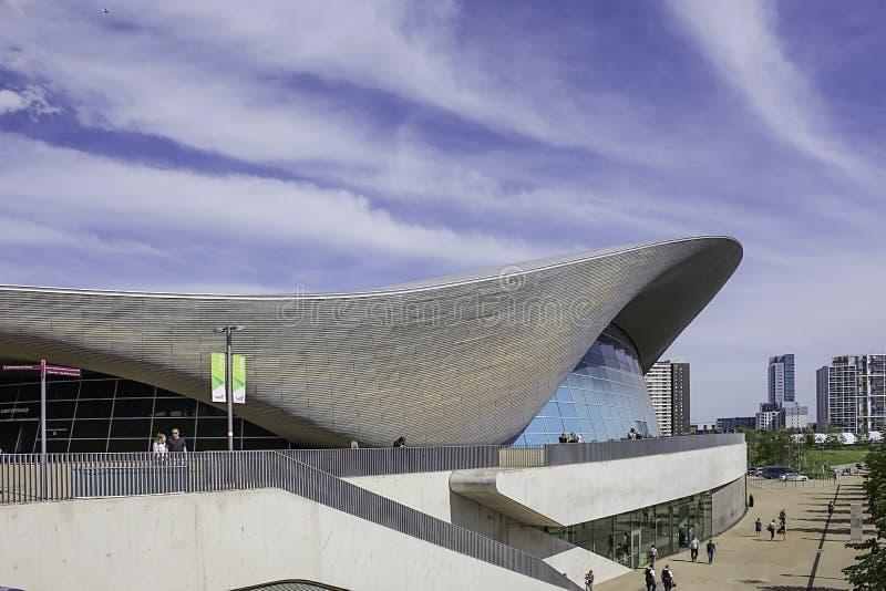 Olympisch zwembad Londen stock foto's