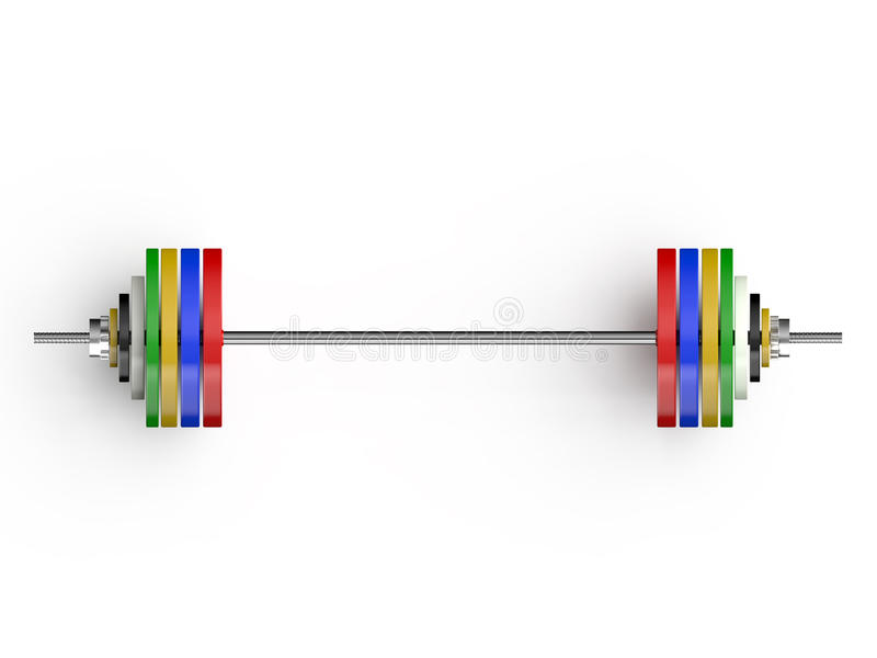 Olympische barbellsvoorzijde stock illustratie