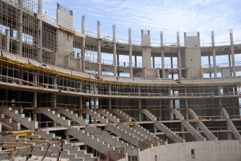 Olympische bouw in Sotchi royalty-vrije stock foto's