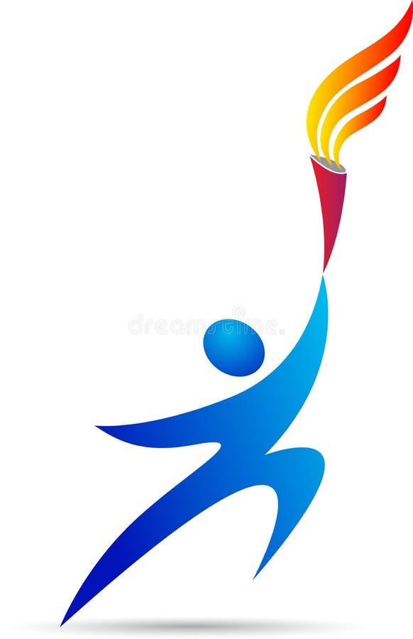 Olympische Fackel lizenzfreie abbildung