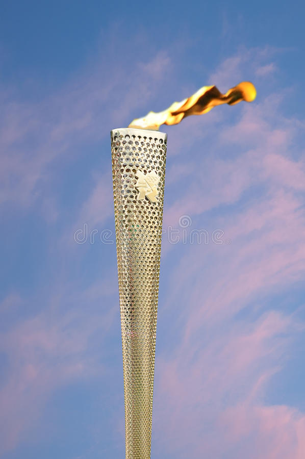 Olympische Fackel lizenzfreies stockbild