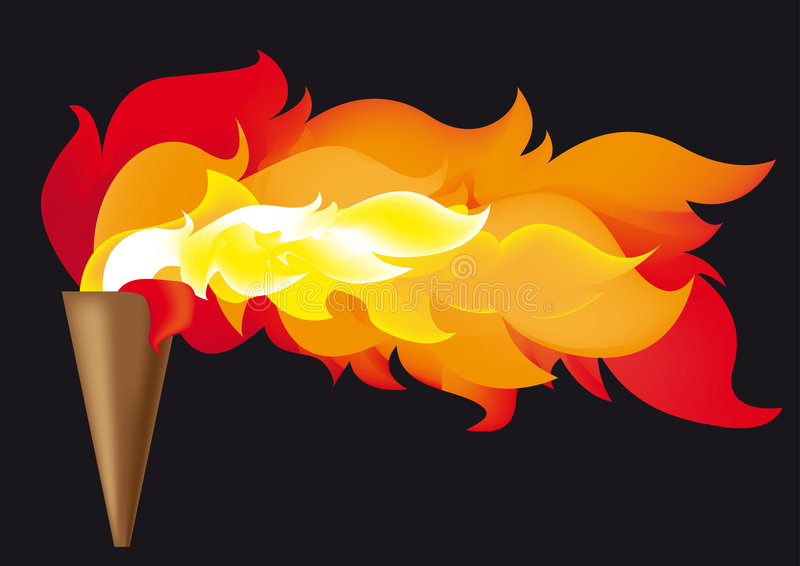 Olympische Flamme stock abbildung