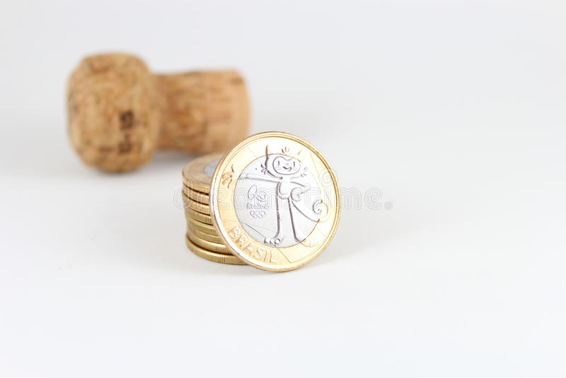 Olympische Münzen stockfotografie