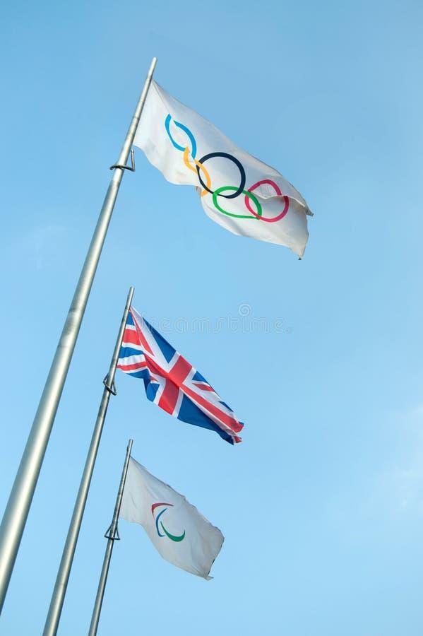 Olympische Markierungsfahne lizenzfreie stockbilder