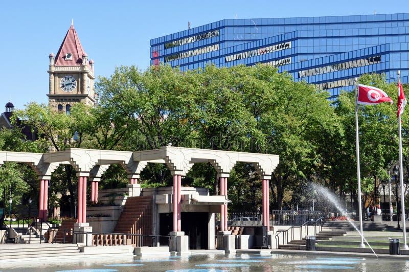 Olympische Piazza, Calgary lizenzfreies stockbild