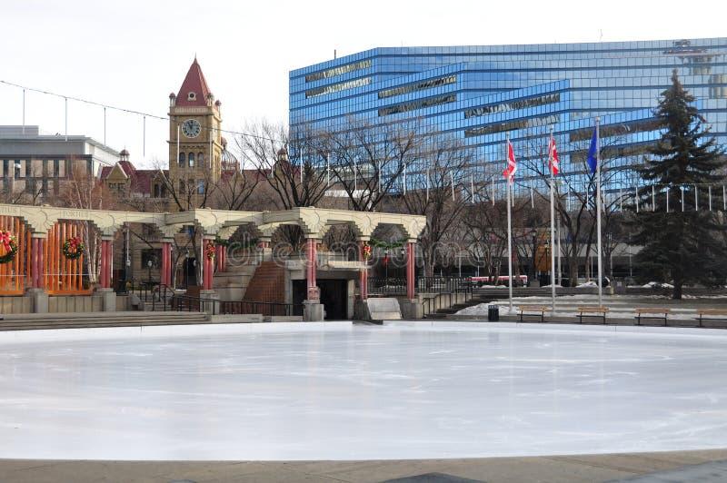 Olympische Piazza, Calgary lizenzfreie stockfotos